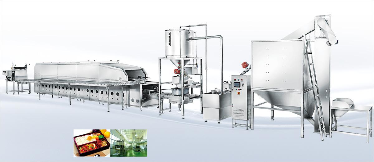 燃气型自动米饭生产线