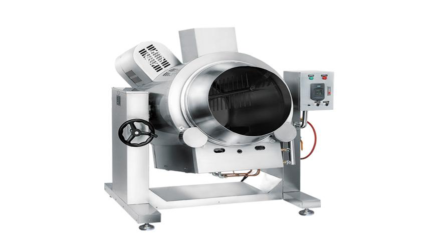 大型卧式炒菜机 多功能旋转炒菜机