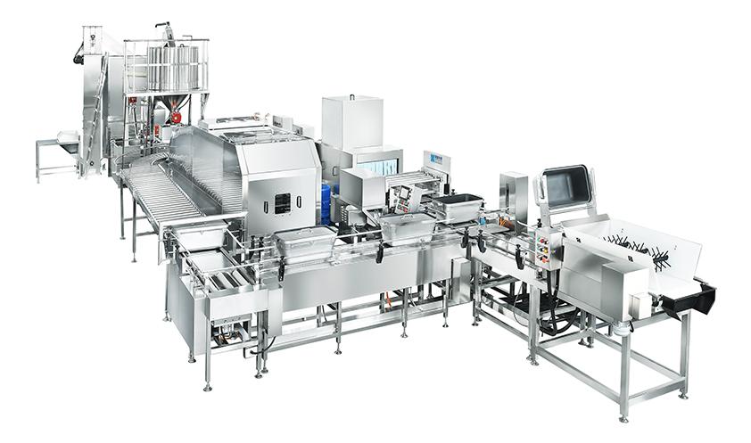 600机械手全自动米饭生产线
