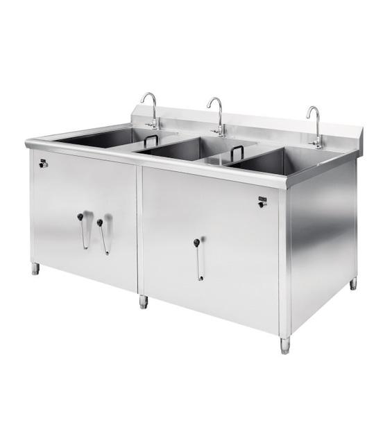 三缸水槽洗菜机